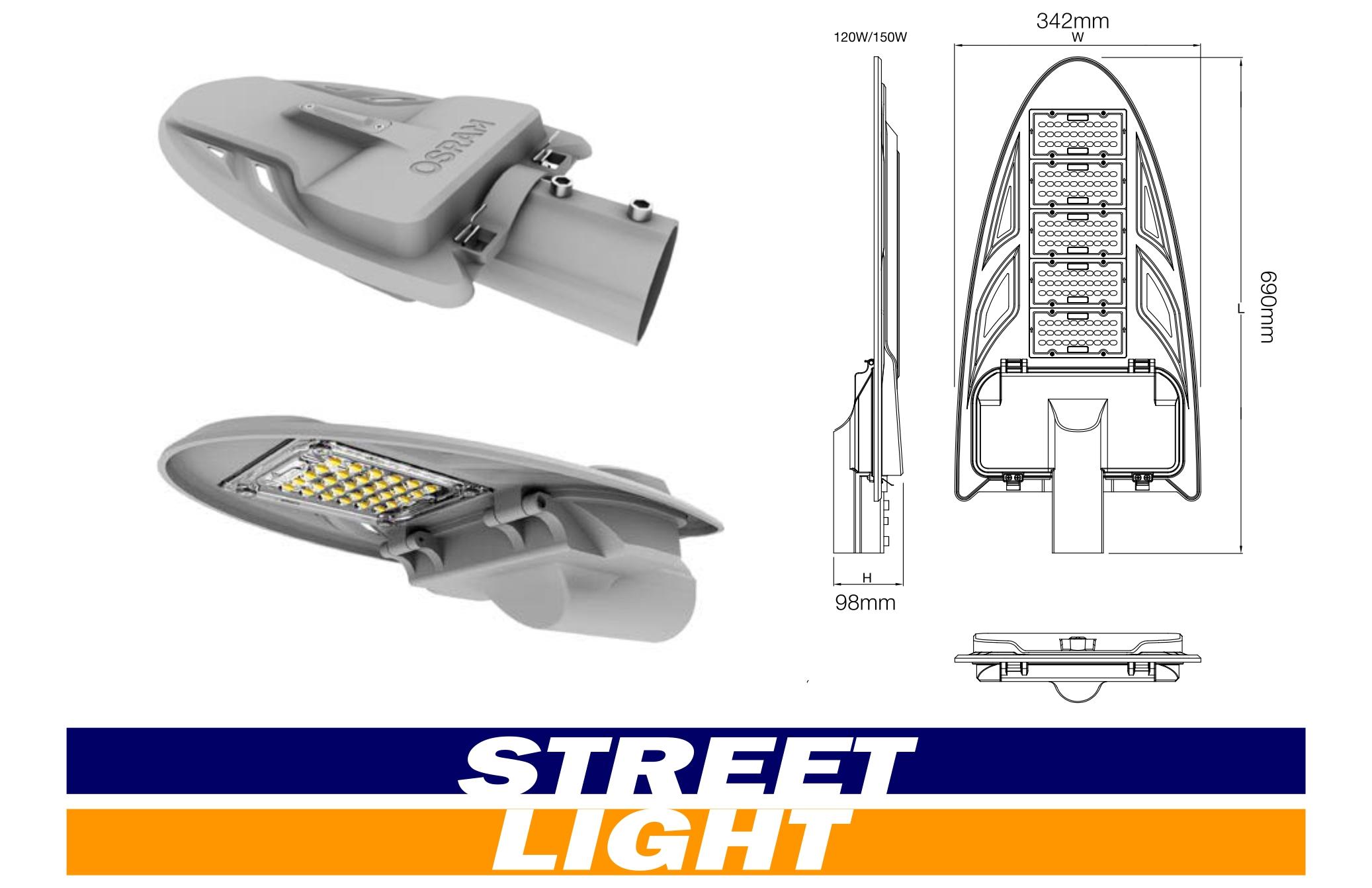 LEDENVO LED Street Light