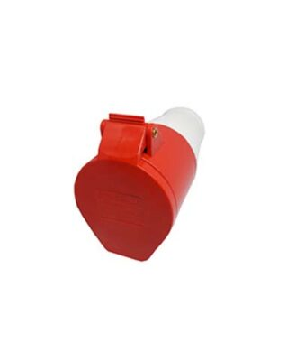 INDUSTRIAL SOCKET 16A (3P+E) RED IP44 DV