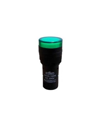 PILOT LAMP Ø22MM GREEN 220VAC FORT
